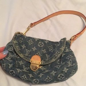 Authentic Louis Vuitton denim purse